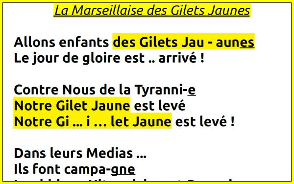 Marseillaise Gilets Jaunes